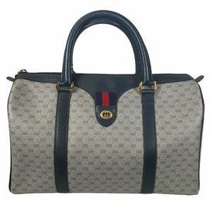 Gucci Satchel bag Micro GG Sherry Navy Blue